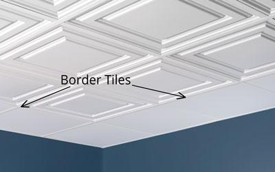 Border tile installed