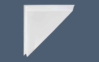 Corner Diverter in White